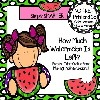 How Much Watermelon Is Left?:  NO PREP Fraction Identification Game