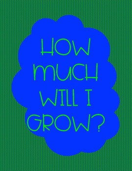 How Much Will I Grow - Measuring & Finding Difference Activity