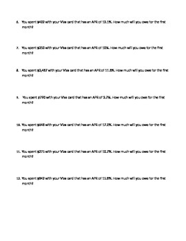 """How Much Will You Pay?"" APR Worksheet"