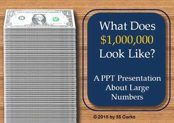 How Much is $1,000,000? Large Number PowerPoint for 3-5 grades