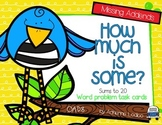 How Much is Some? Addition word problems with missing parts ~ Spring Edition