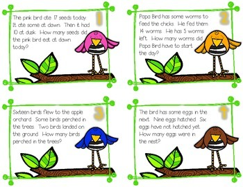 How Much is Some? Subtraction word problems with missing parts ~ Spring Edition
