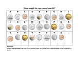 How Much is Your Word Worth?  (using Canadian Money)