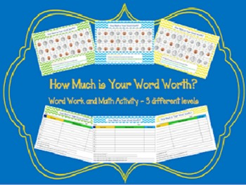 How Much is Your Word Worth? Pack