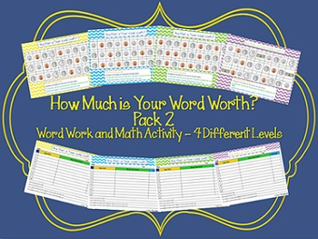 How Much is Your Word Worth? Pack 2