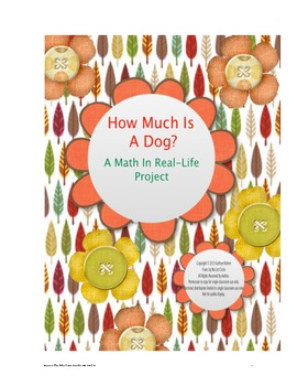 How Much is a Dog? A math in real-life project