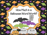 How Much is a Halloween Word Worth? 2.NBT.5, 2.NBT.6, 2.MD