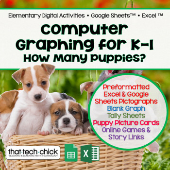Computer Graphing for K-2  How Many Puppies?