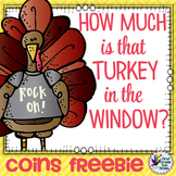 Thanksgiving Math Counting Coins Freebie