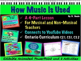 How Music Is Used - 48 Slide Powerpoint