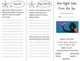 How Night Came From the Sea Trifold - Reading Street 4th Grade Unit 3 Week 3