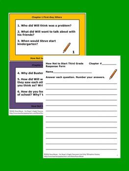 How Not to Start Third Grade Book Unit