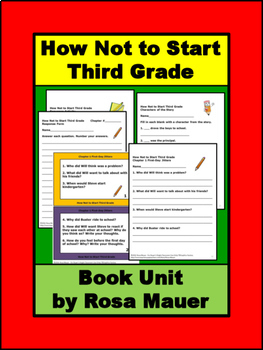 How Not to Start Third Grade Book Unit