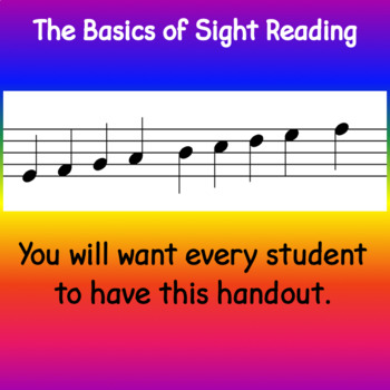 How Notes Move Music Handout - Direction and Distance
