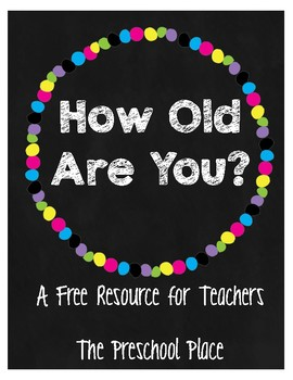 How Old Are You? Birthday Cake & Candle Props- Online Teaching, Pre-K & Kinder