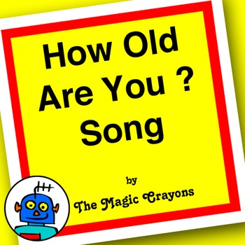 English How Old Are You Song (ages 5-6) For ESL, EFL Kindergarten. 5 Years old