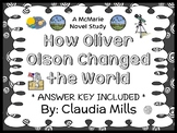 How Oliver Olson Changed the World (Claudia Mills) Novel Study / Comprehension