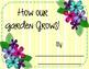 How Our Garden Grows Class Book