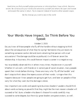 How Our Words Impact Others