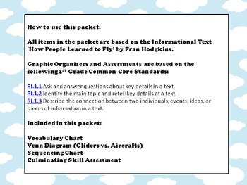 Things that Fly - Mini unit including graphic organizers and assessment