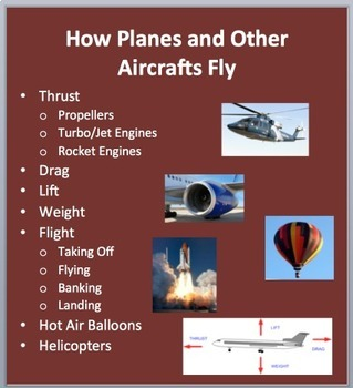 How Planes and Other Aircraft Fly - PowerPoint Lesson Pack