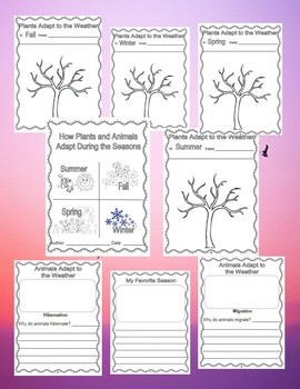 Plants and Animals Adaptations - Booklet with Writing Starters and Crafts