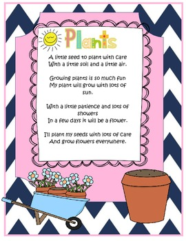 How Plants Grow Science Poem  (Seeds, Soils, Air, Sun, Flower!)