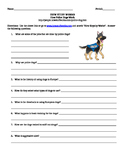 How Police Dogs Work- Internet Assignment for Street Law