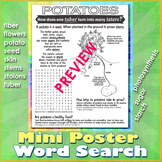 How Potatoes Grow MINI POSTER and Word Search