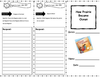 How Prairie Became Ocean Storytown Comprehension Trifold