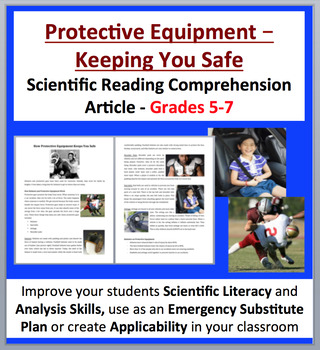 How Protective Equipment Keeps You Safe - Science Reading Article - Grades 5-7