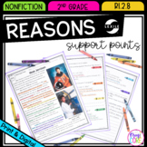 Reasons Support Points - 2nd Grade RI.2.8