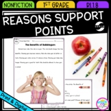 How Reasons Support Points - 1st Grade RI.1.8 - Printable