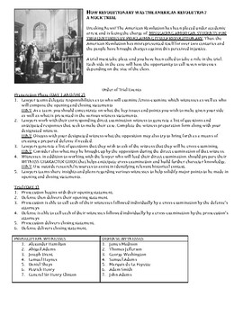 How Revolutionary was the American Revolution? A Mock Trial