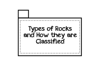 How Rocks are Classified ~ Flip Book~