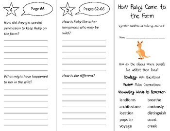 How Ruby Came to the Farm Trifold - 3rd Grade Literacy by Design Theme 2