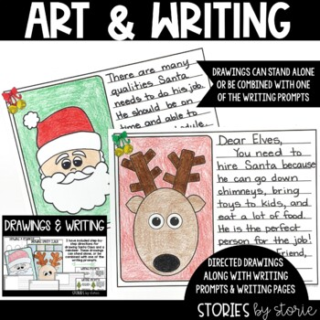 How Santa Got His Job (Book Questions, Vocabulary, and Directed Drawings)