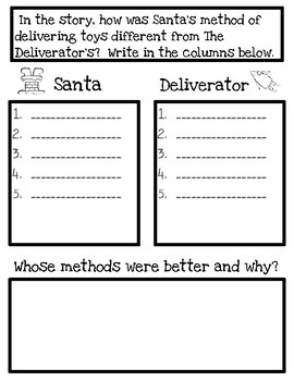 How Santa Lost His Job: Point of View, Sequencing & Comparing/Contrasting