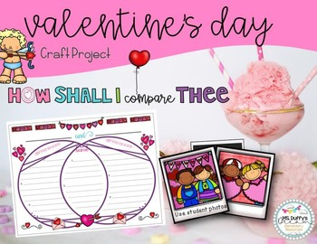 Valentine Compare and Contrast Craftivity: How Shall I Compare thee..