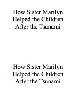 How Sister Marilyn Helped the children