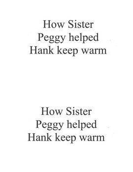 How Sister Peggy helped Hank keep warm