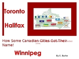 How Some Canadian Cities Got Their Names!