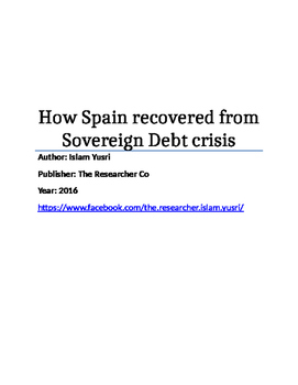 How Spain recovered from Sovereign Debt crisis