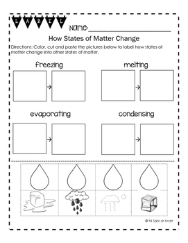 How States of Matter Change Freebie!