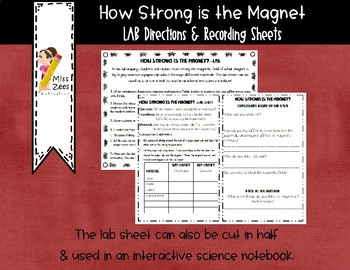 How Strong in the Magnet? - Lab Directions & Recording Sheet!