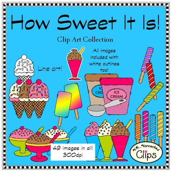 How Sweet It Is - Ice Treats Clip Art Collection