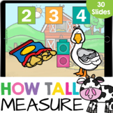 How Tall? Measurement with Cubes - Farm Math Google Slide