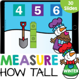 How Tall? Measurement with Cubes Math Google Slide Digital