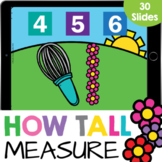 How Tall? Measurement with Flowers Math Google Slide Digit