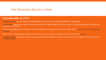 How Tennessee Became a State